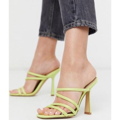 アルド ALDO レディース サンダル・ミュール シューズ・靴 Arianna strappy heel sandal in lime yellow ライトグリーン