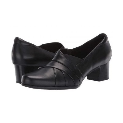 Clarks クラークス レディース 女性用 シューズ 靴 ヒール Un Damson Adele - Black Leather