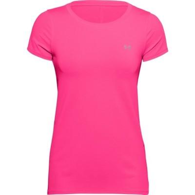 アンダーアーマー シャツ トップス レディース Under Armour Women's HeatGear Armour T-Shirt Cerise