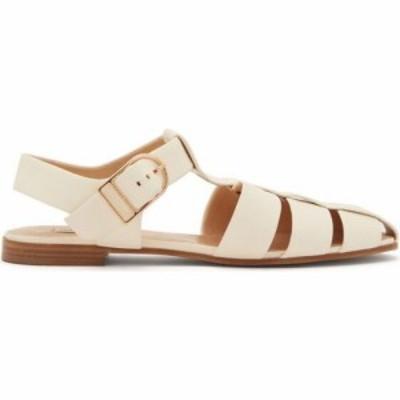 ガブリエラ ハースト Gabriela Hearst レディース サンダル・ミュール シューズ・靴 Lynn caged leather slingback sandals Ivory