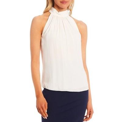 アントニオメラニー レディース シャツ トップス Kasia Sleeveless Halter Silk Blouse White