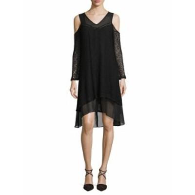 ファースト サイト レディース ワンピース Lace Cold Shoulder Dress