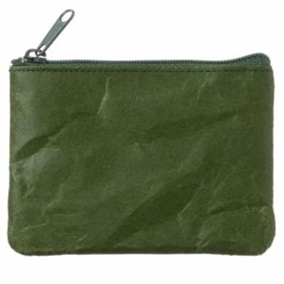 SIWA|紙和 コインケース wide ダークグリーン 破れにくい紙・ナオロン製小銭入れ 山梨県の工芸品 Durable paper coin purse