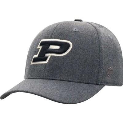 トップオブザワールド Top of the World メンズ キャップ 帽子 Purdue Boilermakers Grey Alpha 1Fit FlexFit Hat