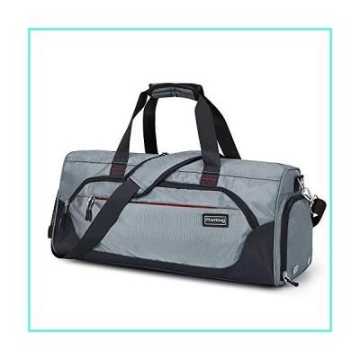 【新品】Plambag Sports Duffel Gym Bag with Wet Pocket & Shoe Compartment, Water-repellent Travel Weekender Bag(Gray)(並行輸入品)