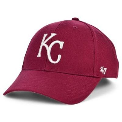 47ブランド レディース 帽子 アクセサリー Kansas City Royals Cardinal MVP Cap Cardinal Red