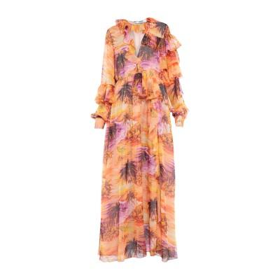 エムエスジーエム MSGM ロングワンピース&ドレス オレンジ 44 ポリエステル 100% ロングワンピース&ドレス