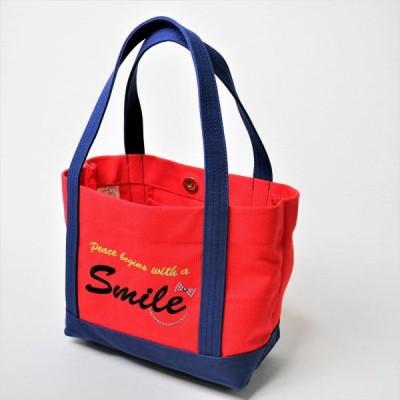 ポジティブトートバッグ 赤×紺 Mサイズ
