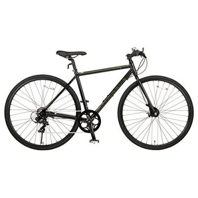 JEFFERYS(ジェフリーズ) ジェフリーズ 自転車 クロスバイク 700x28C AMADEUS シマノ7段変速 前後 ローラーブレーキ アルミフレーム ブラック JP8702 ブラック
