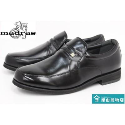 メンズ ビジネスシューズ 本革 日本製 紳士靴 幅広 4E マドラス madras Do Walk 4526 BLACK