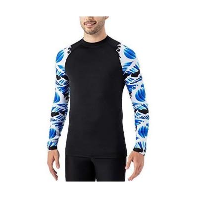 Naviskin メンズ 長袖 ラッシュガード UPF 50+ 日焼け防止 水泳 サーフィン ベースレイヤースキンコンプレッションシャツ