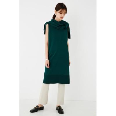 【シェルターセレクト】 Layered Knit Dress レディース グリーン FREE SHEL'TTER SELECT