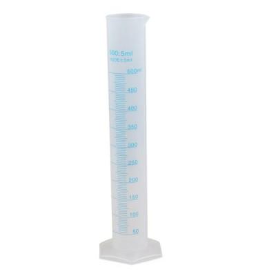 koshihara LL822 メスシリンダー 測定シリンダー 500:5ml In20℃±5ml 青目盛付 整備用工具