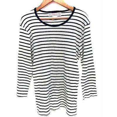 ナノユニバース France materiaux Tシャツ カットソー 七分袖 M 紺 ネイビー /AAO レディース【中古】【ベクトル 古着】