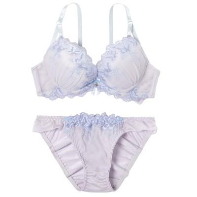 パステルトーンフェアーリルレース ブラジャー・ショーツセット(B75/M) (ブラジャー&ショーツセット)Bras & Panties