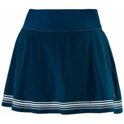 プーマ レディース スカート ボトムス PUMA Women's PWRSHAPE Ribbon Golf Skirt Gibraltar Sea