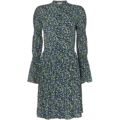 マイケル コース MICHAEL Michael Kors レディース ワンピース シャツワンピース ワンピース・ドレス Smock sleeve shirt dress Multi-Coloured