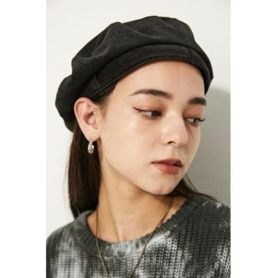 LAGUA GEM / BELT CORDUROY BERET WOMEN 帽子 > キャップ