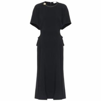 ヴィクトリア ベッカム Victoria Beckham レディース ワンピース ミドル丈 ワンピース・ドレス embellished midi dress Black