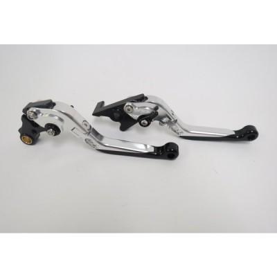 Honda レブル NS-1 GROM CBR400R/CB400F/400X 2013-2019 可倒式 ダブルビレットレバー 銀