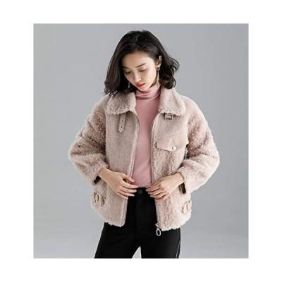 KLFSJD Women's Wool Cashmere Jacket Ladies Winter Flary Coat, Wool Blend Co