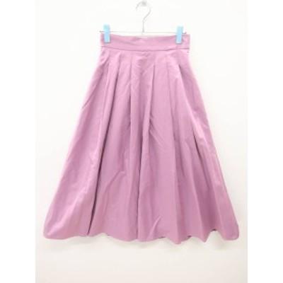 eimy istoire(エイミーイストワール)タックフレアボリュームスカート 紫 レディース Aランク S
