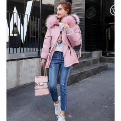 5色 レディース ショート丈 中綿 チェック ダウンコート 上着 ダウンジャケット ファーフード付き  防寒 防風 OL 通勤 暖かい カジュ