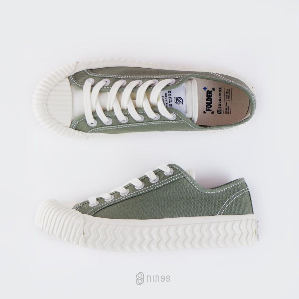 EXCELSIOR BOLT LOW 餅乾鞋 軍綠色 白鞋舌 FLEXAF1U31