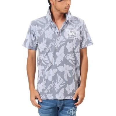 Norton/ノートン・ポロシャツ 182N1213 ボタニカル パイル ジャガード 半袖ポロシャツ 杢グレー