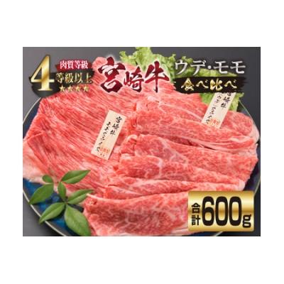 BC8-192 宮崎牛スライス(ウデ・モモ)合計600g&粗挽きウインナー180gセット<合計780g>