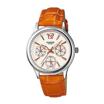腕時計 カシオ Casio LTP2085L-5A レディース レザー アナログ マルチファンクション Beige ダイヤル ドレス 腕時計