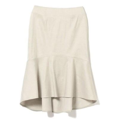 スカート Demi-Luxe BEAMS / リネン ラッフルスカート