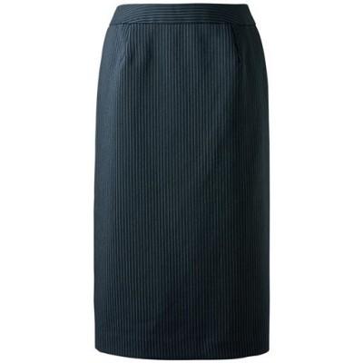 スーツ用タイトスカート(事務服・洗濯機OK)/ストライプB(総丈60cm)/88-105