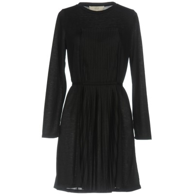 VANESSA BRUNO ATHE' ミニワンピース&ドレス ブラック S ポリエステル 100% ミニワンピース&ドレス