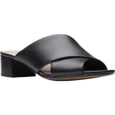 クラークス レディース サンダル シューズ Elisa Lily Slide Black Full Grain Leather