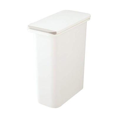 リス 日本製 ゴミ箱 フタ付き H&H 防臭ペール ホワイト 20SN GBED010