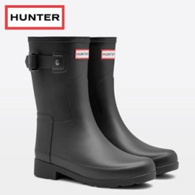 ハンター レインブーツ レディース リファインド ショートブーツ ブラック HUNTER WFS1098RMA-BLK