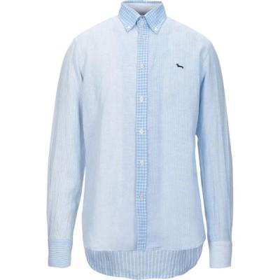 ハーモント アンド ブレイン HARMONT&BLAINE メンズ シャツ トップス linen shirt Sky blue