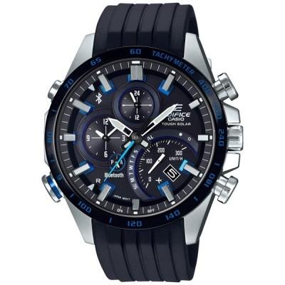 カシオ EDIFICE エディフィス スマートフォンリンクシリーズ デュラソフトバンド(フッ素ラバー)メンズ腕時計 EQB-501XBR-1AJF