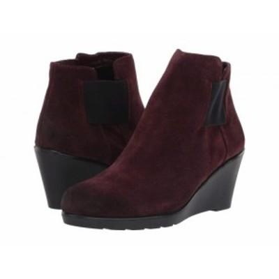 Naturalizer ナチュラライザー レディース 女性用 シューズ 靴 ブーツ アンクル ショートブーツ Laila Bordo Oil Suede【送料無料】