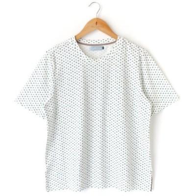 2020 夏物 新作 ヤシ柄 半袖 クルーネック Tシャツ カットソー