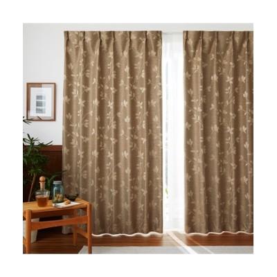 軽くておしゃれ!1級遮光・遮熱・防音カーテン(モダンリーフ) ドレープカーテン(遮光あり・なし) Curtains, blackout curtains, thermal curtains, Drape(ニッセン、nissen)