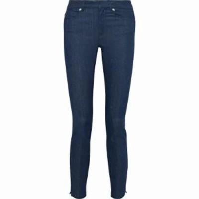 アーペーセー ジーンズ・デニム Zip-detailed mid-rise skinny jeans Blue