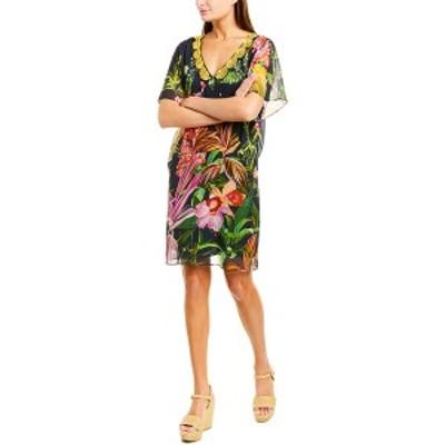 トリーナターク レディース ワンピース トップス Trina Turk Rainforest Silk Caftan Dress indigo multicolor