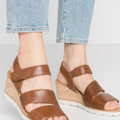 ガーバーショップ レディース サンダル Wedge sandals - peanut