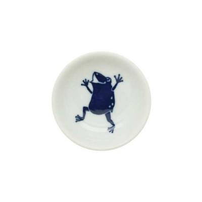 【予約商品】和食器 豆皿 日日小紋 蛙醤油皿 小皿 薬味皿 漬物皿 タレ皿 しょうゆ皿 お菓子皿 醤油小皿 和柄 カエル おつまみ皿 モダン 和モダン おしゃれ