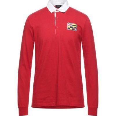 ポール シャーク PAUL & SHARK メンズ ポロシャツ トップス polo shirt Red