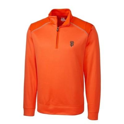 サンフランシスコ・ジャイアンツ Cutter & Buck Ridge WeatherTec Half-Zip Pullover ジャケット - Orange