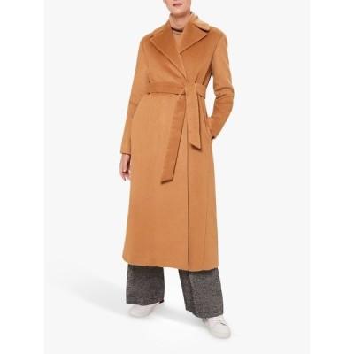 ホッブス ジャケット&ブルゾン レディース アウター Hobbs Rene Alpaca Wool Blend Wrap Long Coat