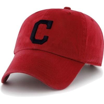 フォーティセブン 47 メンズ キャップ 帽子 Cleveland Indians Clean Up Red Adjustable Hat
